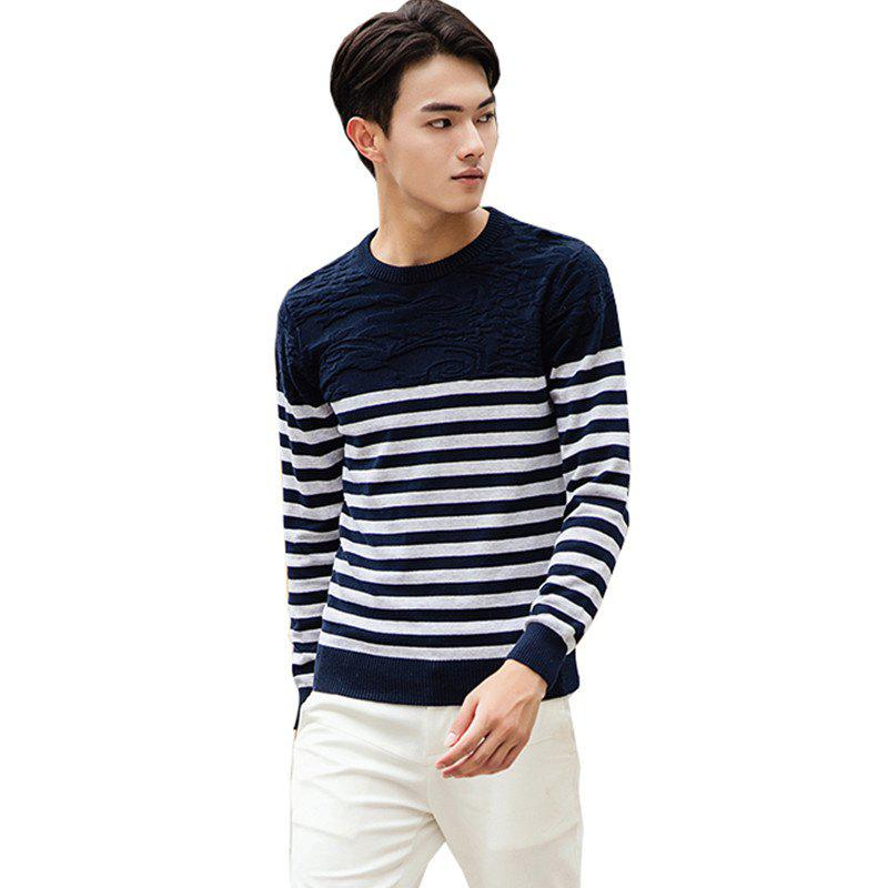 Outfits Men's Fashion Slim Fit Casual Round Neck Warm Knitted Sweater