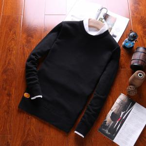 Men's Fashion Casual Long Sleeves Pullover Knitted Sweater -