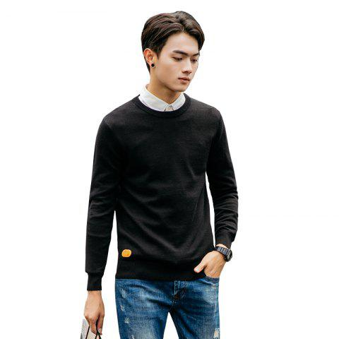 Online Men's Fashion Casual Long Sleeves Pullover Knitted Sweater