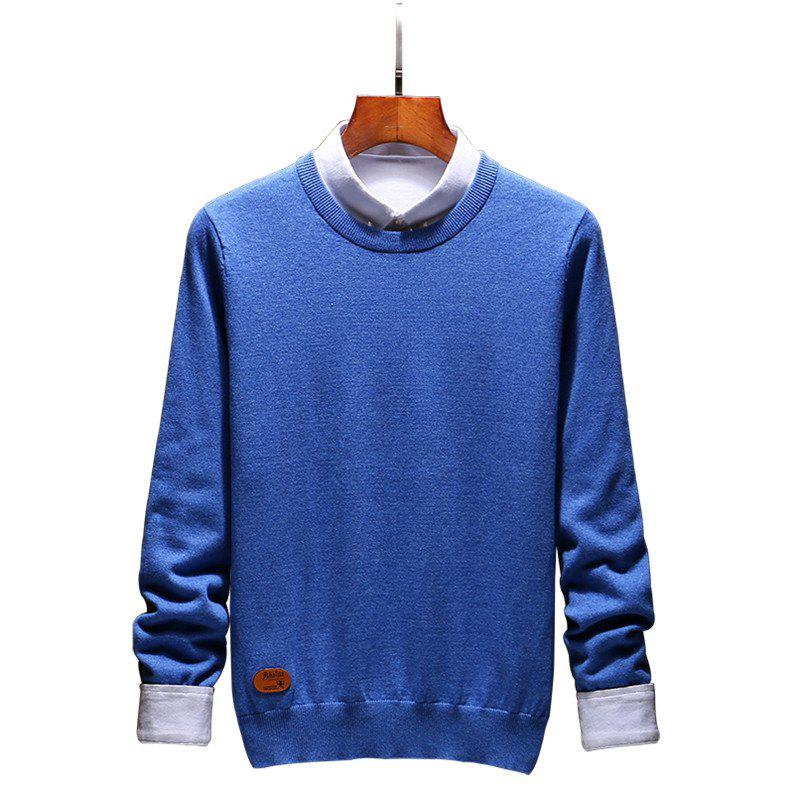 Shops Men's Fashion Casual Long Sleeves Pullover Knitted Sweater