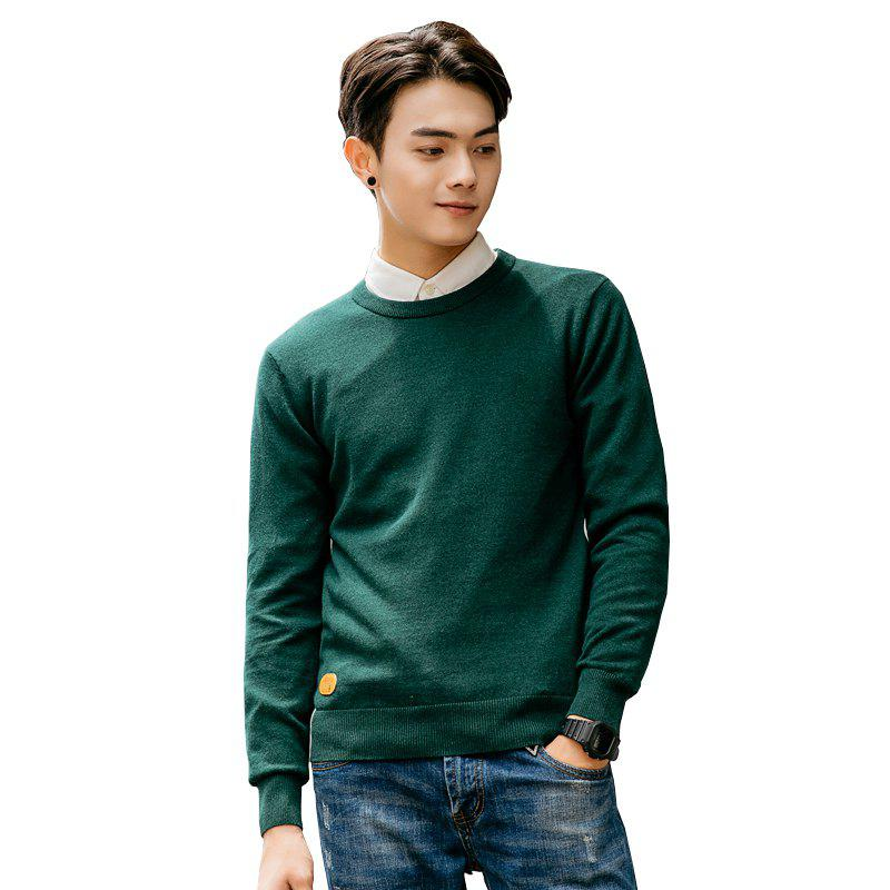 Unique Men's Fashion Casual Long Sleeves Pullover Knitted Sweater