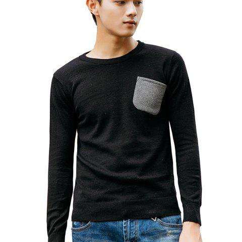 Cheap Men's Slim Fit Basic Knitted Pullover Sweaters