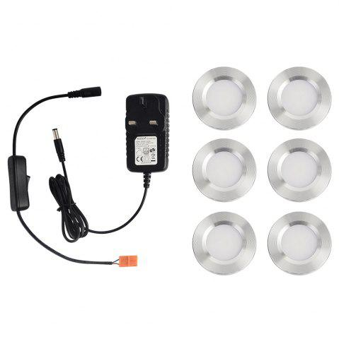 Fashion 1600lm 3000K Warm White Super Bright LED Puck Light for Kitchen Closet 6PCS