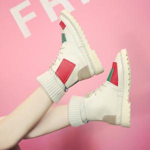 European Station New Stretch Socks Shoes High Boots Martin -
