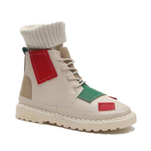 Discount European Station New Stretch Socks Shoes High Boots Martin