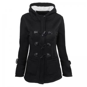 Medium Long Style Korean Style Hooded Coat -