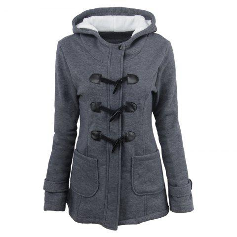 Affordable Medium Long Style Korean Style Hooded Coat