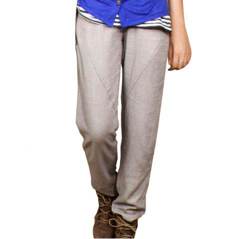 Chic Women's Casual Pant Loose Solid All Match Mid Waist Top Fashion Pant