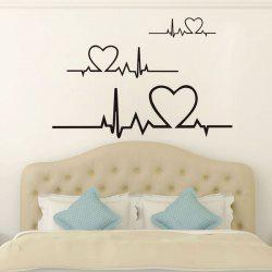 DSU Heart Beat ECG Wall Sticker Art Decal -