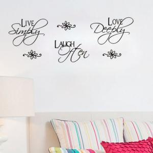 DSU Love Quotes Wall Sticker for Home Decoration -