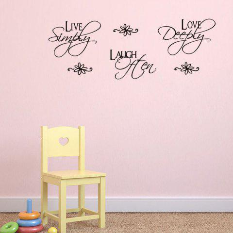 Buy DSU Love Quotes Wall Sticker for Home Decoration