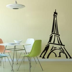 DSU Paris Eiffel Tower Wall Sticker Living Room Bedroom Restaurant TV Sofa Background Decoration -
