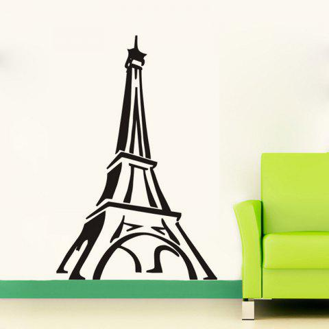 Cheap DSU Paris Eiffel Tower Wall Sticker Living Room Bedroom Restaurant TV Sofa Background Decoration