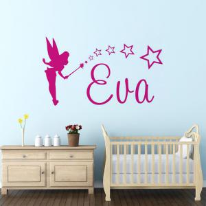 DSU Cute Small Fairy Wall Sticker Decal Art for Baby Nursery -