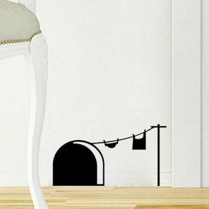 DSU 3D Funny Mouse Wall Stickers Living Room Bedroom Art Wallpaper -