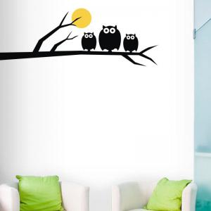 DSU Owls Family High Quality Wall Sticker -