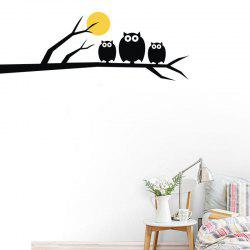 DSU Owls Family Sticker mural de haute qualité - Multi 58x20cm