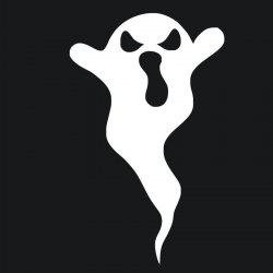 DSU Evil Ghost Art Decal Halloween Funny Sticker для украшения стен -
