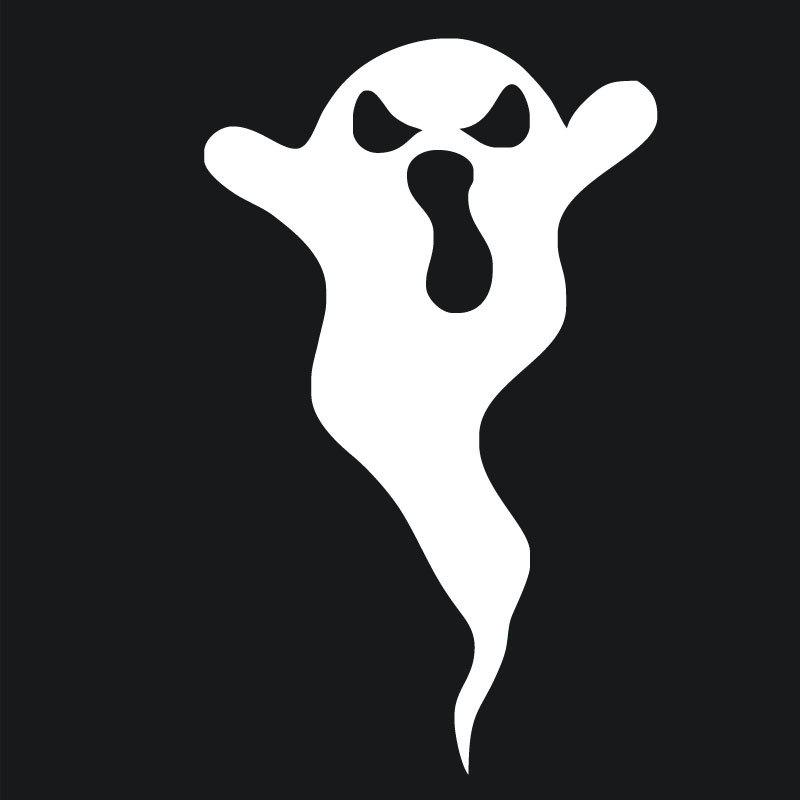 Store DSU Evil Ghost Art Decal Halloween Funny Sticker for Wall Decoration