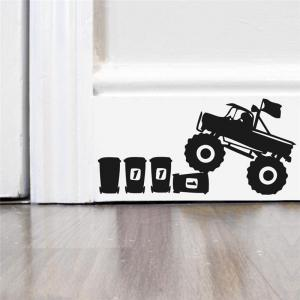 DSU Cartoon Animal Mouse Driving Truck Vinyl Art Wall Sticker -