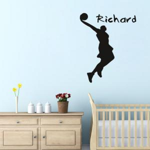 DSU Cartoon Basketball Player Wall Sticker for Home Decoration -