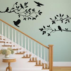 DSU Tree Branch with Birds Decal Removable Wall Sticker -