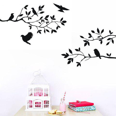 Fancy DSU Tree Branch with Birds Decal Removable Wall Sticker