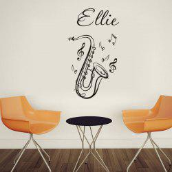 DSU Music Classroom Decorative Wallpaper Saxophone European Style Creative Wall Sticker -