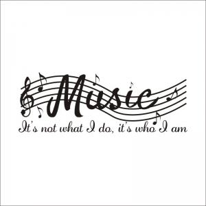 DSU Music Note Decal Removable Wall Sticker -