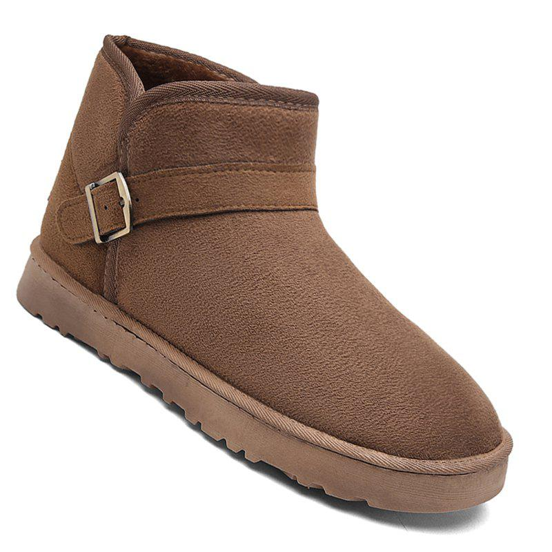 Chic Men New Trend for Fashion Warm Winter Home Suede Casual Shoes