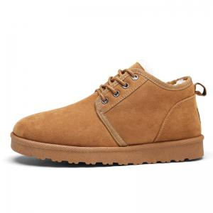 Men Casual Winter Warm Cotton Rubber Trend for Fashion Suede Shoes -