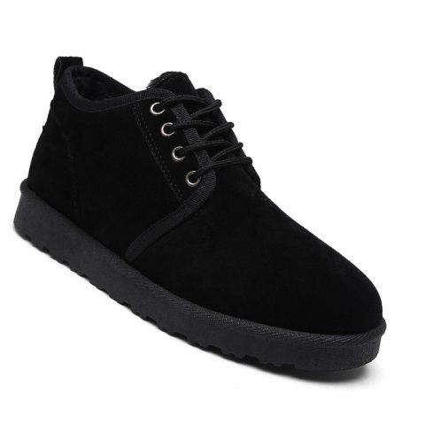 Trendy Men Casual Winter Warm Cotton Rubber Trend for Fashion Suede Shoes