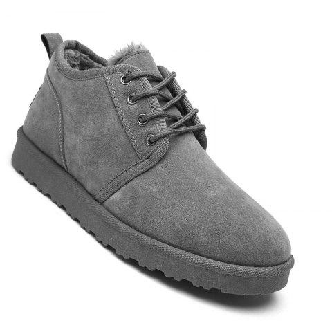 Fancy Men Casual Winter Warm Cotton Rubber Trend for Fashion Suede Shoes
