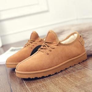 Men Casual Winter Warm Rubber Trend for Fashion Cotton Suede Shoes -