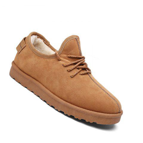 Trendy Men Casual Winter Warm Rubber Trend for Fashion Cotton Suede Shoes