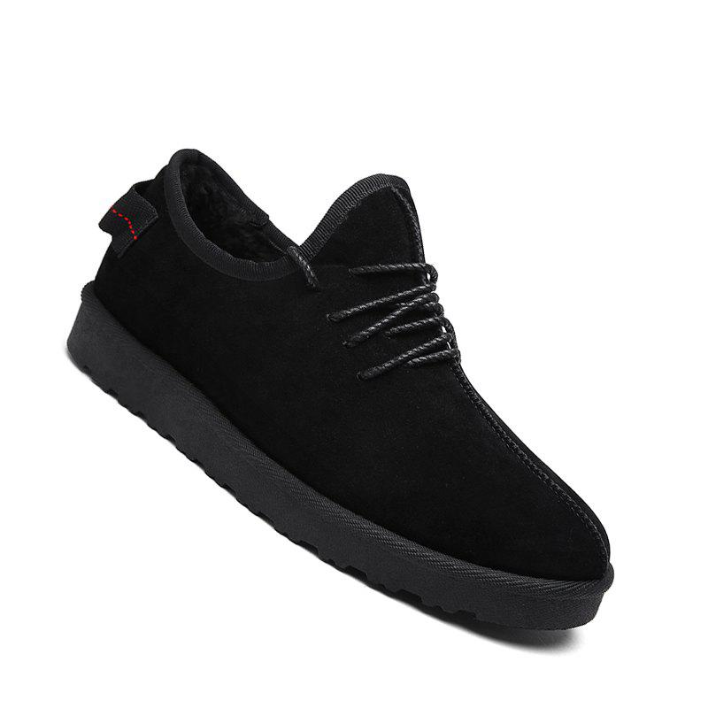 Store Men Casual Winter Warm Rubber Trend for Fashion Cotton Suede Shoes