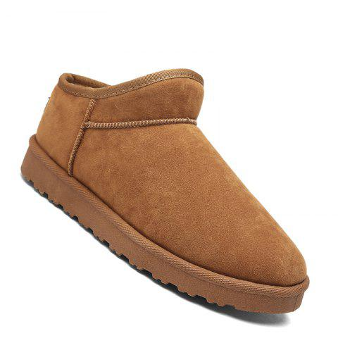 Trendy Men Casual Winter Warm Rubber Trend for Fashion Cotton Suede Slip on Shoes