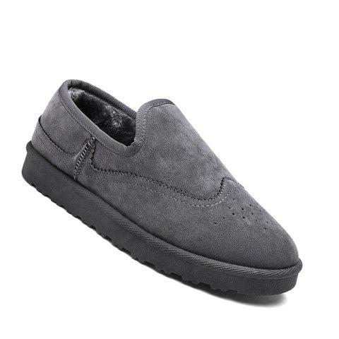 Fancy Men Casual Winter Warm Rubber Trend for Fashion Slip on Cotton Suede Shoes
