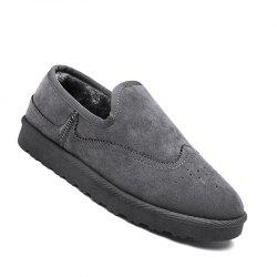 Men Casual Winter Warm Rubber Trend for Fashion Slip on Cotton Suede Shoes -
