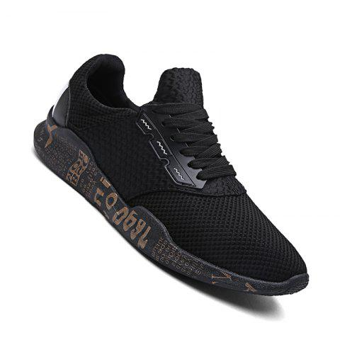Fancy Men Casual Rubber Breathable Mesh Trend for Fashion Lace Up Ankle Boots