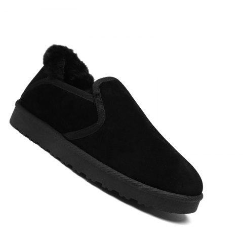 Discount Men Casual Rubber Warm Suede Trend for Fashion Home Slip on Shoes