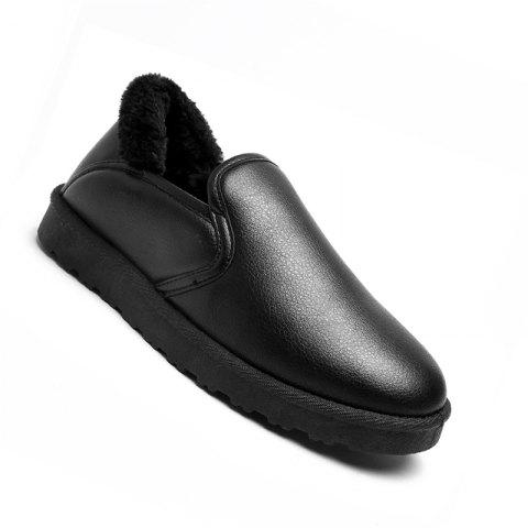 Chic Men Casual Rubber Warm Suede Trend for Fashion Home Slip on Shoes