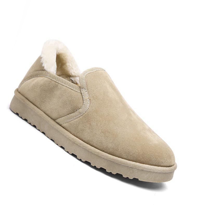 Hot Men Casual Rubber Warm Suede Trend for Fashion Home Slip on Shoes