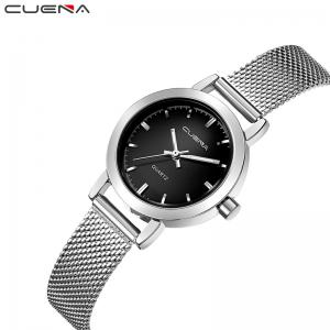 CUENA 6627G Luxury Women Quartz Watch Watche Waterproof Stainless Steel Watchband -