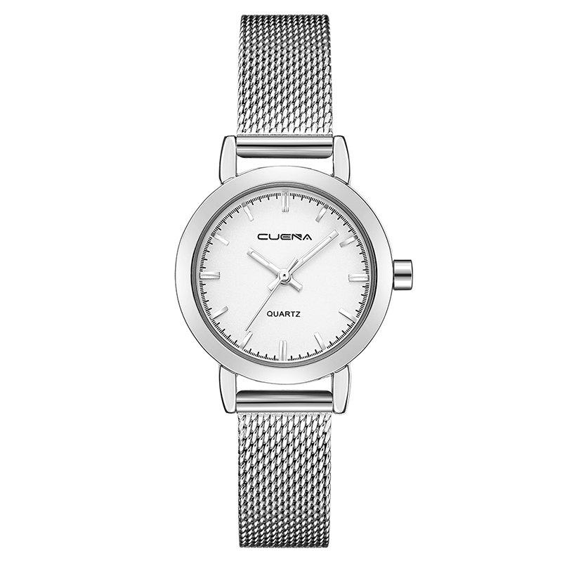Unique CUENA 6627G Luxury Women Quartz Watch Watche Waterproof Stainless Steel Watchband