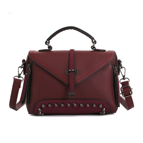 Buy Rivets Single Arrow Messenger Bag New Lychee Pattern Diagonal Package