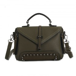 Rivets Single Arrow Messenger Bag New Lychee Pattern Diagonal Package -