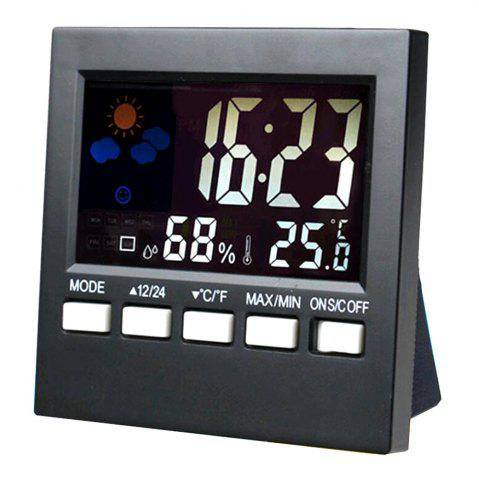 Latest Convenient Digital LCD Temperature Humidity Monitor Alarm Clock