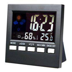 Convenient Digital LCD Temperature Humidity Monitor Alarm Clock -
