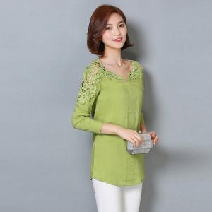 Women's Wear Fashion  Bare Shoulders and Long Sleeve Shirts Plus Sizes -